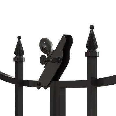 Empire/Westbrook 28 in. Black Steel Decorative Fence Gate