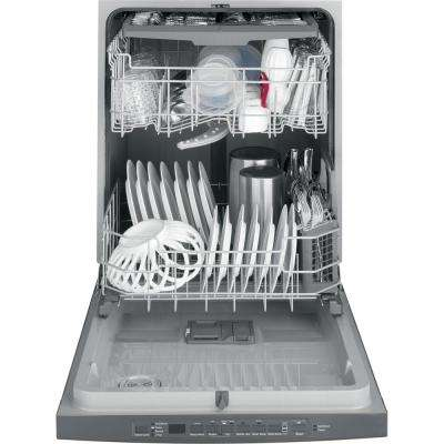 Top Control Tall Tub Dishwasher in Slate with Steam Cleaning, Fingerprint Resistant and ENERGY STAR, 50 dBA