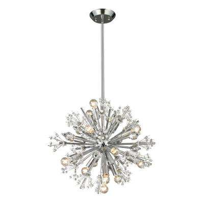 Tracera Collection 15-Light Polished Chrome Chandelier