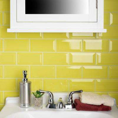 Park Slope Beveled Subway Canary Yellow 3 in. x 6 in. Ceramic Wall Tile (36 cases / 690.48 sq. ft. / pallet)