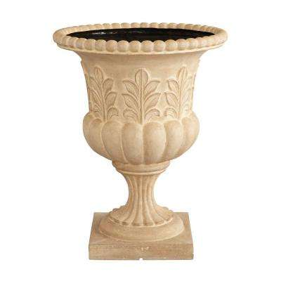 18-1/2 in. x 23-1/2 in. Acanthus Urn in Aged Limestone