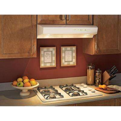 Allure I Series 36 in. Convertible Under Cabinet Range Hood with Light in Almond