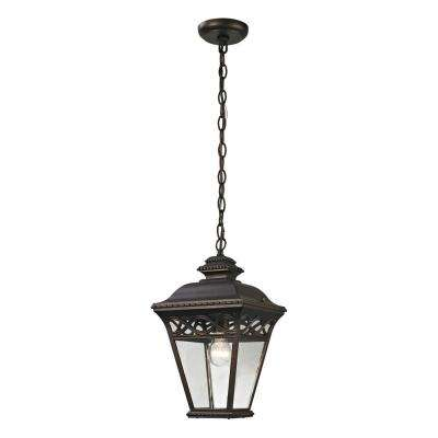 Mendham 1-Light Hazelnut Bronze Outdoor Pendant