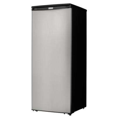 8.5 cu. ft. Manual Defrost Upright Freezer in Stainless Steel
