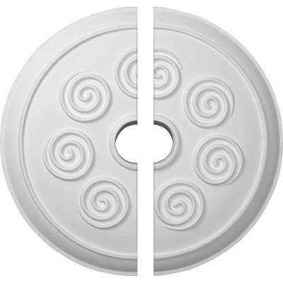 25-1/4 in. O.D. x 4 in. I.D. x 2 in. P Spiral Ceiling Medallion (2-Piece)