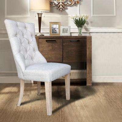 Martini Oatmeal Linen Dining Chair (Set of 2)