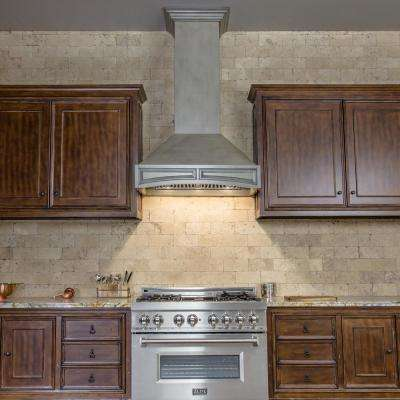 36 in. 1200 CFM Gray Wooden Wall Mount Range Hood in Gray