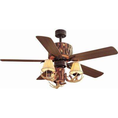 Lodge 52 in. Nutmeg Ceiling Fan
