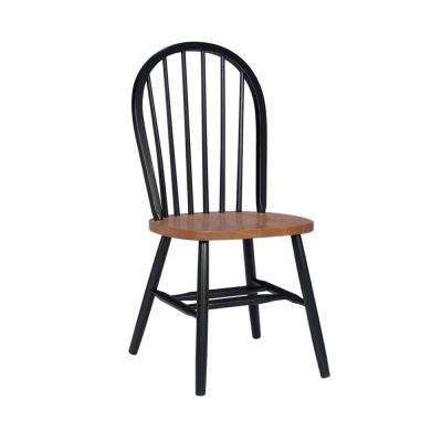Windsor Spindleback Dining Chair in Black/Cherry
