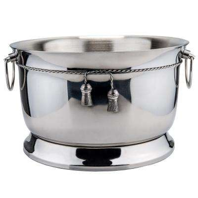 3.75 Gal. Stainless Steel Double-Walled Party Tub with Tie Knot