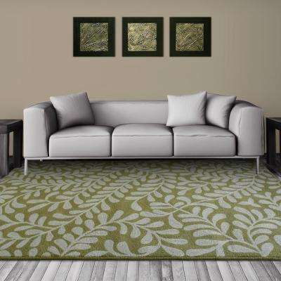 Fiona Moss Polyester 9 ft. x 12 ft. Area Rug