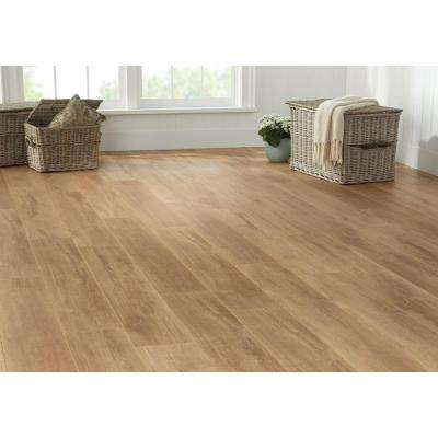 Biscayne Washed Oak 8 mm Thick x 7-2/3 in. Wide x 50-5/8 in. Length Laminate Flooring (21.48 sq. ft. / case)