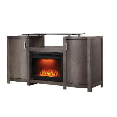 The Whitney 24 in. Mantel Package Electric Fireplace in Deep Grey