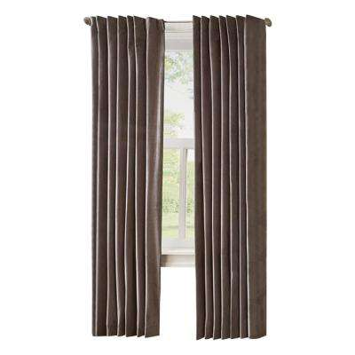HDC Velvet Lined Back Tab Curtain Grey - 50 in. x 84 in. L (1-Panel)