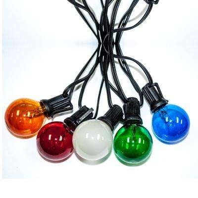 Party Light 25 ft. 24-Light String Light with Multi-Bulb Blue/Amber/Green/Red