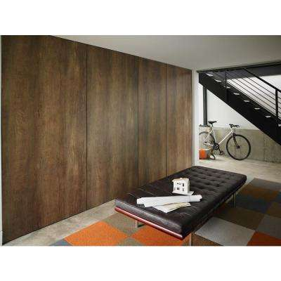 5 in. x 7 in. Laminate Countertop Sample in Oxidized Beamwood with Natural Grain Finish