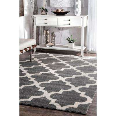 Meeker Trellis Grey 3 ft. x 8 ft. Runner Rug