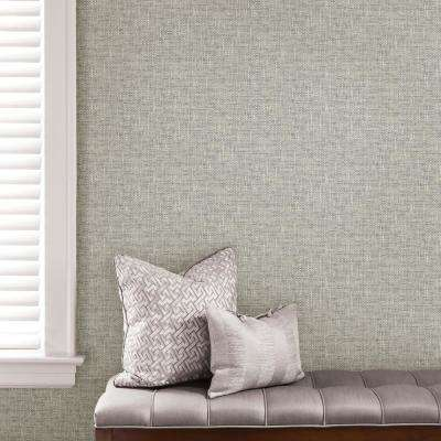 Grey Poplin Texture Vinyl Strippable Roll (Covers 30.75 sq. ft.)