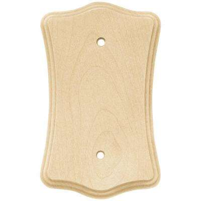 Wood Scalloped 1 Blank Wall Plate - Un-Finished Wood