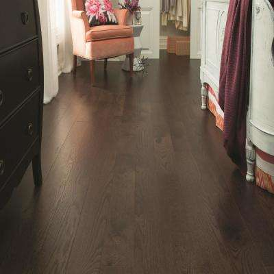 Lightly Brushed Oak Espresso 3/8 in. T x 3 in. W x Random Lengths Engineered Hardwood Flooring (25.5 sq. ft. / case)