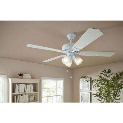 Brookhurst 52 in. LED Indoor White Ceiling Fan with Light Kit