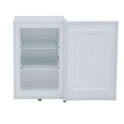 2.1 cu. ft. Upright Freezer in White