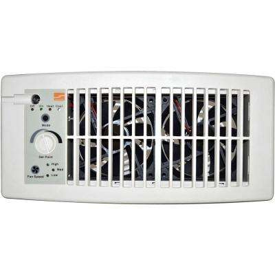 Flush Fit Register Booster Fan in White
