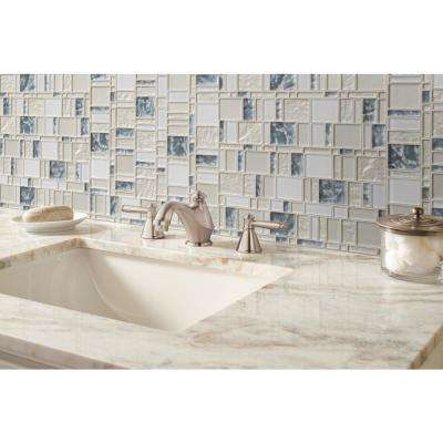 Chantilly Stax 11.85 in. x 11.97 in. x 8mm Glass Mesh-Mounted Mosaic Tile (9.9 sq. ft./case)