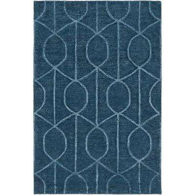Urban Marie Navy 4 ft. x 6 ft. Indoor Area Rug