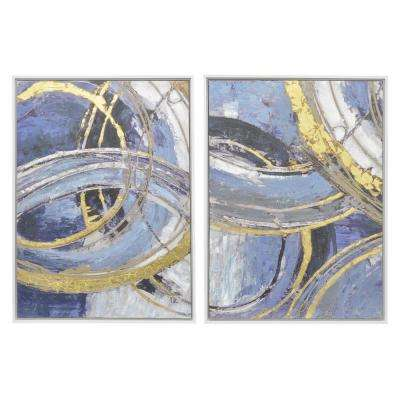 Painting with Frame - Oil on Canvas (Set of 2)