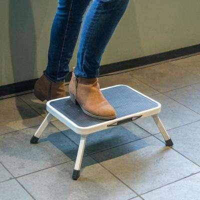 1-Step Aluminum Folding Mini Step Stool with 330 lbs. Load Capacity