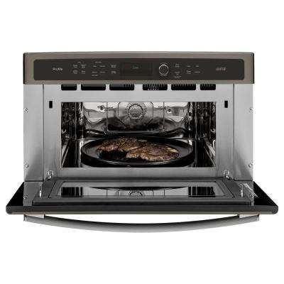 Profile 30 in. Single Electric Wall Oven with Advantium Technology in Slate, Fingerprint Resistant
