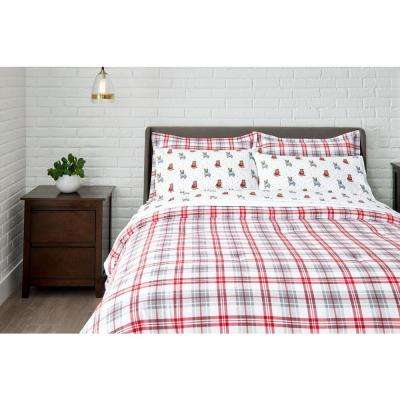 Cotton Flannel Comforter Set