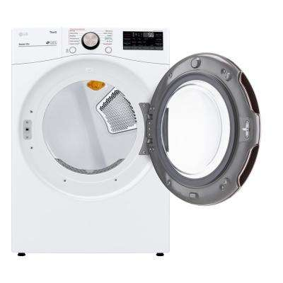 7.4 cu. ft. White Ultra Large Capacity Electric Dryer with Sensor Dry, Turbo Steam