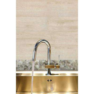 Jazz 4 in. x 4 in. Beige Multi-Colored High Gloss Murano Medley Self Adhesive Decorative Wall Tile