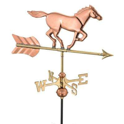 Horse Cottage Weathervane - Pure Copper with Roof Mount