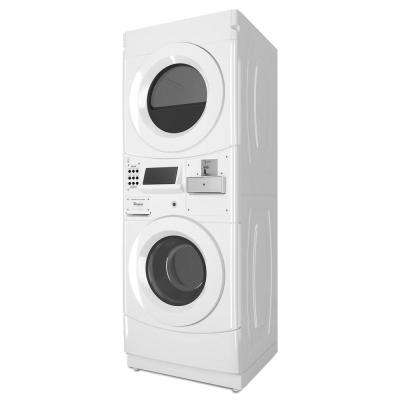 White Commercial Laundry Center with 3.1 cu. ft. Washer and 6.7 cu. ft. 120-Volt Vented Gas Dryer Coin Operated