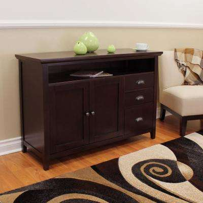 Dark Brown Wood Sideboards Buffets Kitchen Dining Room