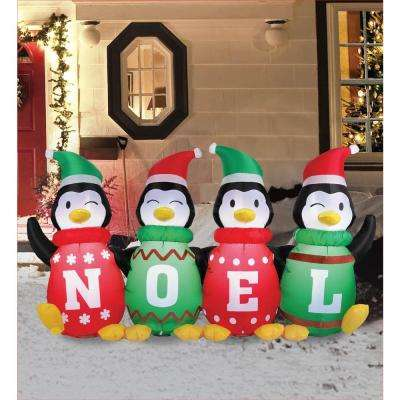 6 ft. Inflatable Sweater Penguins
