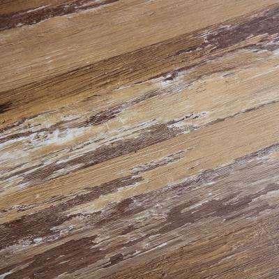 COLORS Floor and Wall DIY Old Brown Wood Aged 6 in. x 36 in. Painted Style Glue Down Luxury Vinyl Plank(30 sq. ft./case)
