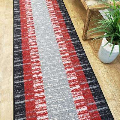 Hamam Collection Red 2 ft. x 5 ft. Runner Rug