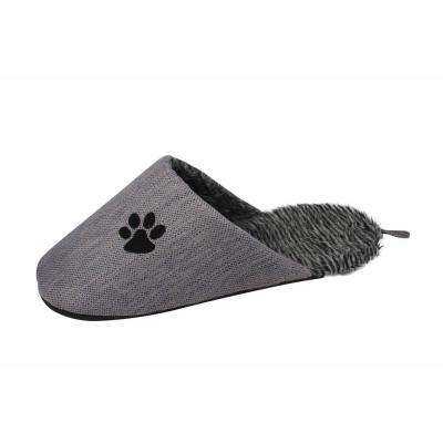 One-Size Grey Slip-On Fashionable Slipper Bed