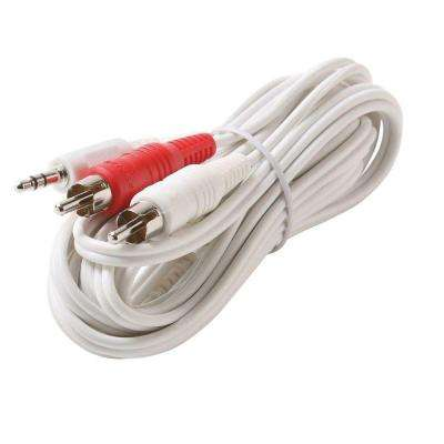 6 ft. Y3.5-Plug - 2-RCA Male Cable