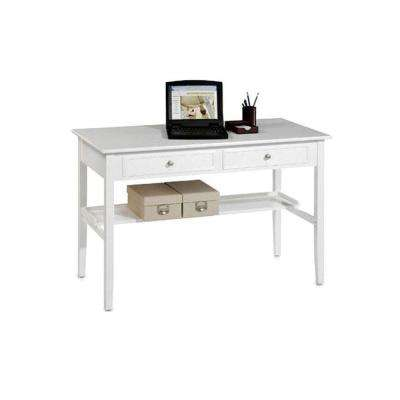 Oxford 48 in. W 2-Drawer Standard Writing Desk in Black