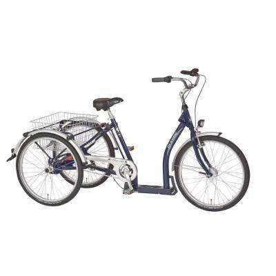 PFIFF 24-26 in. Unisex Classic Adult Tricycle Wheels Nexus 3 Speed Drive in Dark Blue