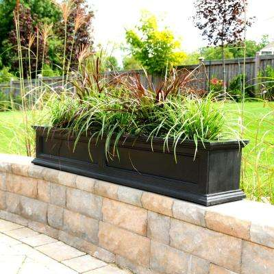 Self-Watering Fairfield 11 in. x 60 in. Plastic Window Box