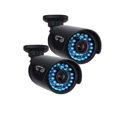 Wired 720p HD Indoor/Outdoor Security Bullet Cameras with 100 ft. Night Vision Compatible with AHD Series DVRs (2-Pack)