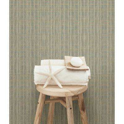56.4 sq. ft. Kent Taupe Faux Grasscloth Wallpaper