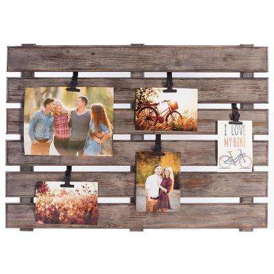 5-Opening 4 in. x 6 in. Pallet Picture Frame