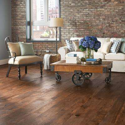 Revolutionary Rustics Hickory Earthly Color 1/2 in T x Varying W x Varying L Engineered Hardwood Flooring (37.9 sq.ft.)